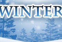 Winter en kerstwinter taferelen