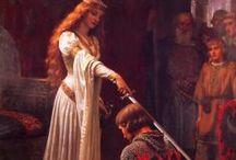 Edmund Blair Leighton / ich liebe seine Bilder und sie sind nicht selten Inspiration für Empire und mittelalterliche Kostümkreationen.