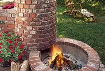 OUTDOOR FIREPLACE..