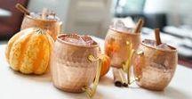 Hammered Copper Barrel Mug - Brass Handle