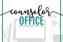 Counselor Office / Counselor office decor, including style and organization ideas! I serve unique counselors who want fresh ideas involving college success by offering them captivating resources that matter. College preparation, printables, worksheets and tips!