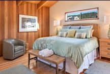 Bedrooms  at Abalone Bay / Both guest #bedrooms have queen size beds with oceanfront views that include meadow and bluff trail. Principal bedroom has king size bed  http://www.searanchabalonebay.com/ #AbaloneBay #SeaRanch, #vacation #VacationRental #vrbo #VacationHome #Mendonoma #homedecor #travel