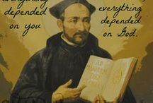 St Ignatius of Loyola / St Ignatius of Loyola, founder of the Society of Jesus, the Jesuits, along with St Francis Xavier and St Peter Faber