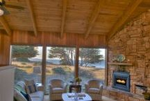 Great room Living Room / Sunken #LivingRoom of Abalone Bay-Sea Ranch Vacation Rental Home   http://www.searanchabalonebay.com/ #AbaloneBay #SeaRanch, #vacation #VacationRental #vrbo #VacationHome #Mendonoma , #travel