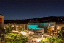 Courtyard / #Courtyard decor and #landscaping using native #plants. Courtyard includes views to #ocean and #HotTub  http://www.searanchabalonebay.com/ #AbaloneBay #SeaRanch, #vacation #VacationRental #vrbo #VacationHome #Mendonoma , #travel