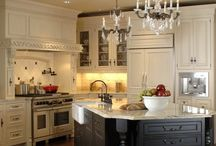 French Country Kitchens / French Country Kitchens provide a cozy, rustic space for eating, conversing and entertaining