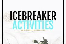 Ice Breaker Activities / Counseling ice breaker activities, ideas, and resources. Great for students in class, lunch bunches and group counseling. I serve unique counselors who want fresh ideas involving college success by offering them captivating resources that matter. College preparation, printables, worksheets and tips!