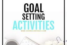 Goal Setting Activities / Counseling activities, ideas, and resources to help students set S.M.A.R.T. goals. I serve unique counselors who want fresh ideas involving college success by offering them captivating resources that matter. College preparation, printables, worksheets and tips!