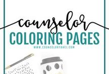Counselor Coloring Pages / Counseling activities, ideas, and resources all about art therapy. Coloring pages used to cope and calm students! I serve unique counselors who want fresh ideas involving college success by offering them captivating resources that matter. College preparation, printables, worksheets and tips!