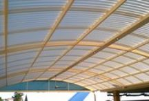 Awesome Dome Patio in Darch / What an awesome patio. It's huge, it's got lights, fans, it's over a pool...