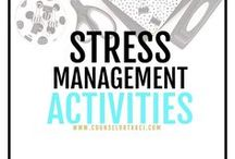 Stress Management Activities / Counseling activities, ideas, and resources to help students cope with and manage stress and test anxiety. I serve unique counselors who want fresh ideas involving college success by offering them captivating resources that matter. College preparation, printables, worksheets and tips!