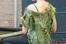 Freeform knit and crochet
