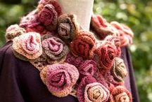 Scarves and shawls crocheted