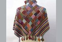 Scarves and shawls knitted