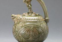 Celadon glazed porcelains