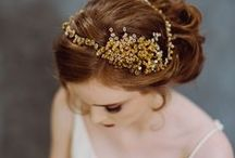 Isobel Hind - Seeds Collection / Seeds is inspired by nature, a collection of Matt Gold or Gloss White accentuated with tiny glittering seed beads and matt pearls, it is a beautifully balanced collection creating a distinct style without distracting from the bride or her gown.  Whether you choose from our bespoke vintage headpieces or our made to order collections, each piece is lovingly handmade in her studio in the Lakes.