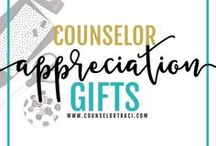 Counselor Appreciation Gifts / Cool ideas to show teachers, counselors, parents, staff and students how much they mean to you! I serve unique counselors who want fresh ideas involving college success by offering them captivating resources that matter. College preparation, printables, worksheets and tips!