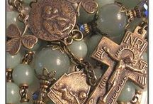 Religious Objects / Little reminders of faith that we keep in our possession or in our home. Rosary beads, pictures, medals etc.