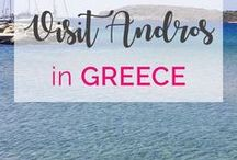 Greek Islands / See my favourite Greek Island destinations, tips and tricks to have a luxurious time for less in the Greek Islands including Andros and Santorini.  Greek Islands, Andros, Greece, Greek Island Stays, Andros Greece, Andros Island Greece, Santorini, Santorini Greece #greece #greekislands #santorini #andros #androsisland #santorinigreece