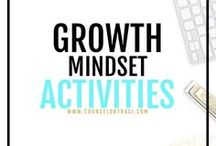 Growth Mindset Activities / All things about mindsets! This includes fixed / growth mindset counseling activities, ideas, and resources students. I serve unique counselors who want fresh ideas involving college success by offering them captivating resources that matter. College preparation, printables, worksheets and tips!