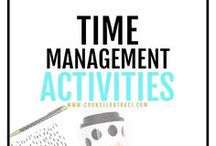 Time Management Activities / Counseling activities, ideas, and resources to help students with time management. I serve unique counselors who want fresh ideas involving college success by offering them captivating resources that matter. College preparation, printables, worksheets and tips!