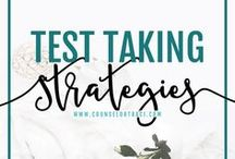 Test Taking Strategies / Counseling activities, ideas, and resources to help students with test taking skills, strategies, and anxiety. I serve unique counselors who want fresh ideas involving college success by offering them captivating resources that matter. College preparation, printables, worksheets and tips!
