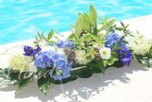 Yacht flower arrangements