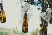 Glass bottles: easy and cute