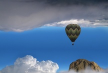BALLOON ~ RIDE  / ✴...A beautiful balloon ride...✴ / by Adele Burgess  🎼