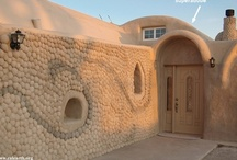Adobe (& more) Houses / Adobe is a natural building material made from sand, clay, water, and some fibrous or organic material (sticks, straw, and/or manure), shape into bricks (using frames) and dry in the sun. Adobe buildings are similar to cob and mudbrick buildings. Adobe structures are extremely durable In hot climates, compared with wooden buildings, adobe buildings offer significant advantages due to their greater thermal mass, but they are particularly susceptible to eartquake damage/ Have fun pinning. . / by ☮✿Lenora☼ ☼Philbert✿☮