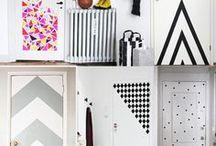 Decoração com washi tape e fita isolante / Ideias de decoração usando washi tape e fita isolante
