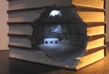 Book Sculpture / http://www.visualnews.com/2011/12/22/mountains-of-books-become-mountains/