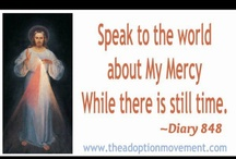 "Divine Mercy! / In the 1930's, Jesus gave St Faustina an urgent message: ""Speak to the world about My mercy; while there is still time/after it will come the day of justice/but woe to them if they do not recognize this time of My visitation/Tell aching mankind to snuggle close to My merciful Heart, & I will fill it with peace"" (Diary 848, 1160, 1074); Be part of St Faustina's vision: ""O what a great multitude of souls I see! They worshiped the Divine Mercy & will be singing the hymn of praise for all eternity"" (Diary, 848)"