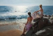 paintings - a day at the beach