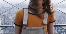Something to wear / earth tones, lots of dungarees, denim and cotton candy