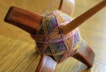 Old fiber crafts / Weaving, tablet/card weaving, spinning yarn (drop spindle) and netting