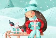 pohledy Vánoce - postcards Christmas