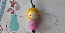 živé korálky - LifeBeads / wood beads malované korálky Beads Wood wood dolly