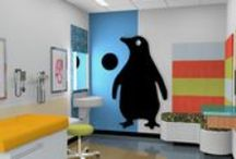 Great Hospital Design / These great designs inspire cheerfulness. Consider using unique colors when designing to create a more uplifting hospital experience.