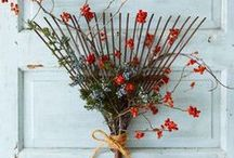 Fall Decor Ideas / Lots of great ideas on how to incorporate vintage style into your fall decor.