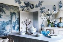 Blue Inspirations / Blue accents in home decor & design