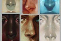 Уроки рисования: Глаза и части тела