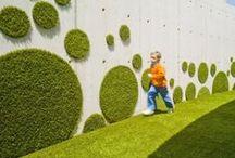 Verde / Nos encantan los jardines verticales y paredes verdes; aquí, nuestras favoritas.