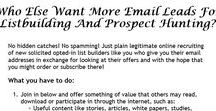 Marketing on the internet / Who Else Want More Email Leads For Listbuilding And Prospect Hunting?   Join in and offer something of value that others may read, download or participate in through the internet.  There is no obligation to order or points to earn. Simply check out more offers to get more addresses!  https://trafficleadz.com/LISTBUILDING/start.php