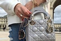 Dior bag dreams / Dior handbag inspiration board. All kinds of Dior bags.