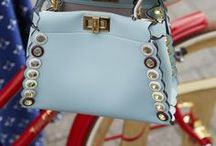 Fendi bag dreams / Fendi handbag inspiration board. All kinds of Fendi bags and bag straps.