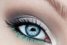 eye make-up and hair