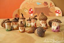 Autumn crafts / Creatieve opdrachten rond thema Herfst