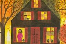 illustrations : houses homes villages cities... / by Tricia Saunders