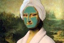 """Åk 8 - Parafras - Mona Lisa / Vad är en Parafras? Parafras betyder omskrivning. En parafras är en bild som """"lånar"""" komposition, innehåll från en annan bild. Leonardo Da Vincis berömda månling """"Mona Lisa"""" får här vara ett exempel  som konstnärer genom tiderna gjort olika omskrivningar av."""